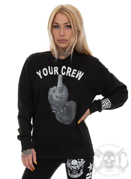 eXc Your Crew Unisex Sweatshirt, Black