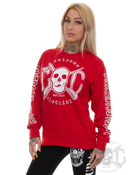 eXc E A F Unisex Sweatshirt, Red N White