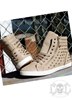 Mix From Italy Studs Shoes, Khaki