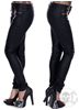 Black Gold Zipped Leggings