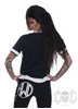 eXc Black/white Mesh Detailed Tee