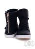 Gold Zipper Shoes, Svarta