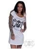 eXc Skull Logo Dress, Vit