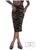 eXc Camo Zipper skirt