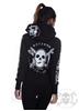 eXc E A F Zip Logo hoodie Black n White