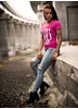 eXc Straight Outta Braaap Tee, Pink
