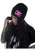 eXc Pink Skull Beanie