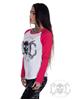eXc Skull Raglan, Wht/Pink