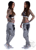 eXc Zipped Black N Grey Sweatpants