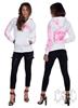 eXc E A F Logo Hoodie White N Pink