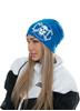 eXc Skull Logo Beanie, Sapphire Blue