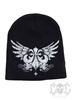 Xzavier Winged Beanie, Black