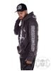 eXc E A F Cross Neck Hoodie Unisex, Grey