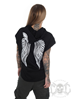 Rebel For Life Winged sleeveless hoodie