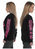 eXc E A F Unisex Sweatshirt, Black N Pink