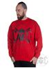 eXc Skull Sweatshirt, Red