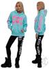 eXc E A F Pink Hoodie, Surf Ocean