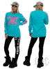 eXc E A F Pink Sweatshirt, Surf Blue