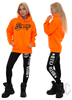 eXc Braaap Unisex Hoodie, Neon Orange