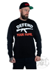 Rebel For Life Defend Your Family Unisex Sweatshirt, Black