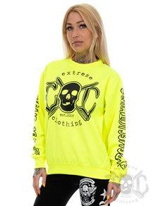 eXc E A F Sweatshirt, Neon Yellow