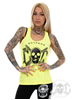 eXc Skull Women Tank, Neon Yellow