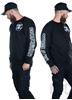 eXc E A F Your Name Biker Unisex Sweatshirt, Black