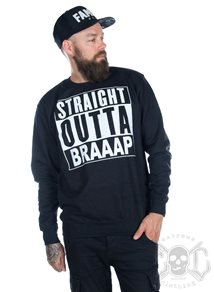 eXc S O Braaap Unisex Sweatshirt, Black Smoke