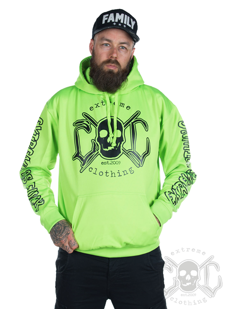 eXc E A F Unisex Hoodie, Neon Green