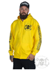 eXc E A F Men Zip Hoodie Yellow N Black