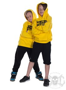 eXc We Are All Heroes Unisex Kidz hoodie, Yellow