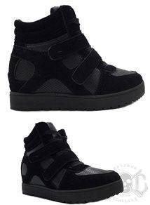 Black On Black High Shoe