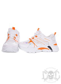 Neon Orange High Sneakers