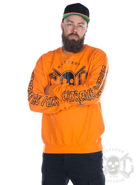eXc E A F Unisex Sweatshirt, Orange