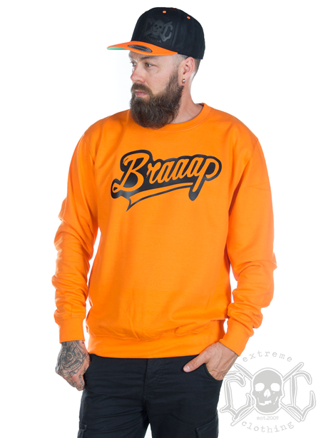 eXc Braaap Sweatshirt Unisex, Orange