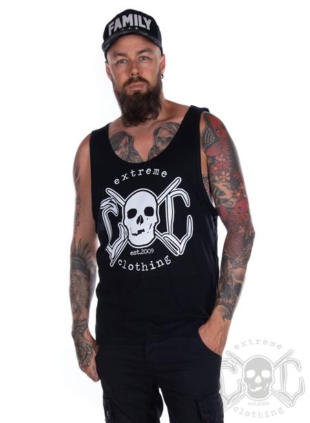 eXc Skull Men Tank, Black