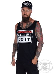 eXc Made Me Do It Men Tank, Black