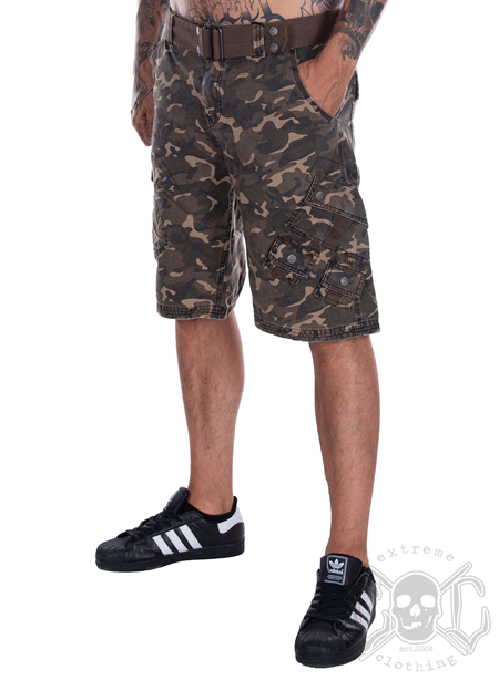 Affliction Sherman Camo Walk Shorts