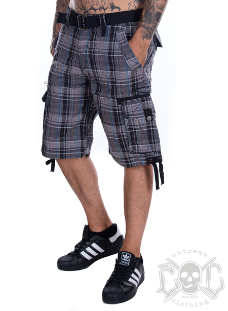 Affliction Take Back Plaid Walk Shorts