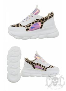 Mix From Italy Leopard Sneakers