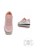 Mix From Italy High Sole Sneakers, Pink