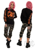 eXc E A F Unisex Sweatshirt Black N Orange