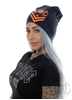 eXc New logo Beanie, Blue N Orange