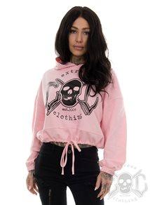 eXc Braaap Cropped Oversize Hoodie, Pink