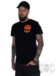 eXc Moto Club Men Tee, Black N Orange
