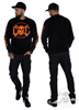 eXc E A F Unisex Sweatshirt, Black N Orange