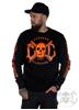 eXc E A F Unisex Sweatshirt, Black N Orange