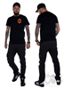 eXc New Logo Men tee, Black n Orange