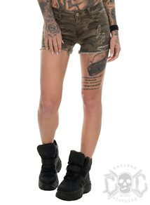 eXc Scratched Camo Shorts