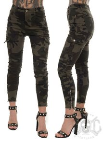 eXc Short Zipped Cargo Camo Pants